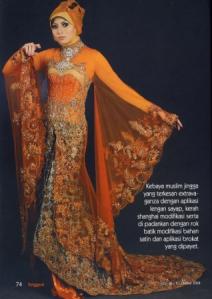 Tidak hanya untuk baju pengantin, kebaya juga dikenakan untuk cara ...